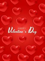 disegno di sfondo del testo di San Valentino con cuori
