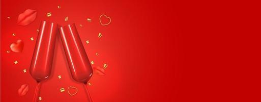 copia spazio San Valentino vacanza sfondo carta regalo, design realistico