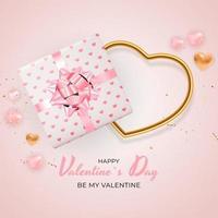 disegno di sfondo quadrato di San Valentino su sfondo rosa
