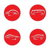 illustrazione delle immagini del logo dell'automobile vettore