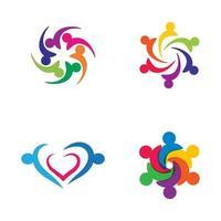 immagini del logo del lavoro di squadra vettore