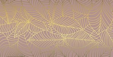 modello astratto foglia oro linee vettore