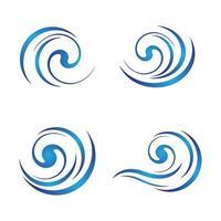 immagini del logo dell'onda d'acqua