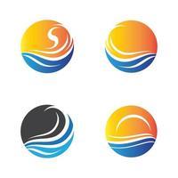 immagini del logo del tramonto vettore