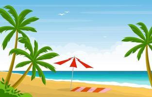 vacanze estive nel paesaggio spiaggia tropicale vettore