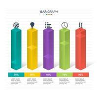 diagramma del grafico a barre per l'illustrazione di analisi finanziaria
