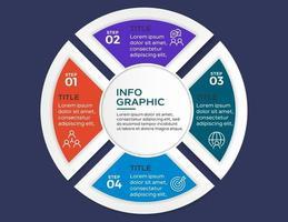 modello di presentazione aziendale infografica con 4 opzioni