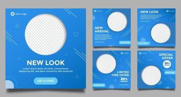set di modelli promozionali astratti minimal banner quadrati