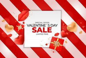 design di banner di vendita di san valentino