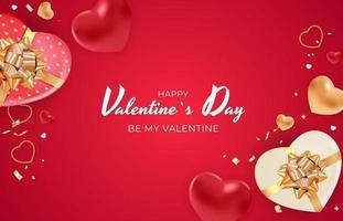 sfondo di San Valentino con cuori 3d