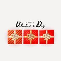 design della confezione regalo di San Valentino vettore