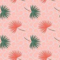 foglie tropicali sul reticolo senza giunte di tonalità pastello