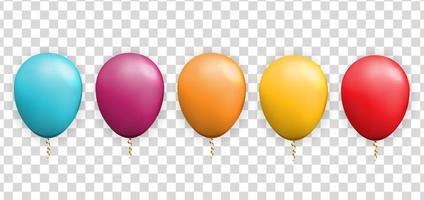 palloncino 3d realistico per la festa, sfondo vacanza. illustrazione vettoriale eps10