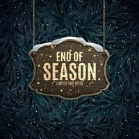 disegno del fondo di vendita di fine stagione invernale. modello per pubblicità, web, social media e annunci di moda.