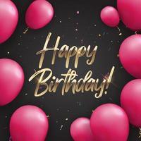 colore lucido buon compleanno palloncini banner sfondo, illustrazione vettoriale