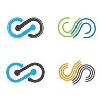 immagini del logo infinito vettore
