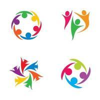 progettazione delle immagini del logo di cura della comunità