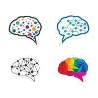 immagini del logo del cervello vettore