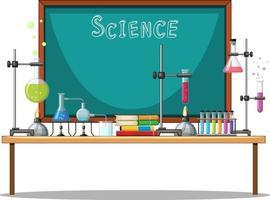 elemento di chimica sul tavolo vettore
