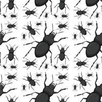 scarabeo insetto sfondo senza giunture vettore