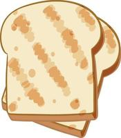 toast semplice su sfondo bianco vettore