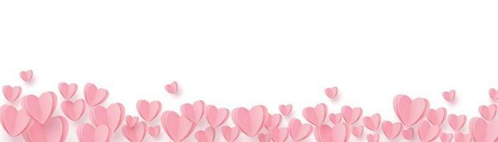 dolci cuori rosa-rossi su sfondo bianco vettore