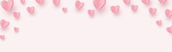 delicati cuori rosa-rossi su sfondo rosa vettore