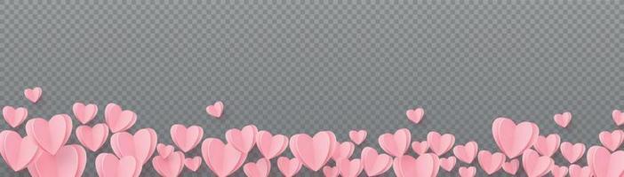 cuori delicatamente rosa-rossi su sfondo grigio a scacchi vettore