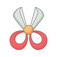 illustrazione di kawaii di vettore di concetto disegnato a mano di scarabocchio del fumetto di forbice