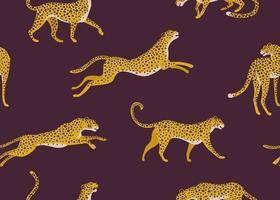 modello leopardo con foglie tropicali. Vector seamless texture.