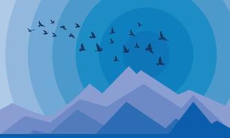 sagome di uccelli in volo su sfondo bianco. illustrazione vettoriale. uccello isolato in volo. disegno di sfondo tatuaggio e carta da parati. cielo e nuvola con uccello volante. vettore