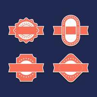 Set di elementi di design etichette vintage