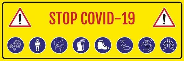 coronavirus covid 19. fermare il coronavirus. vettore