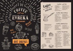 menu del caffè. menu bar ristorante. vettore
