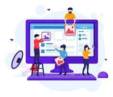 concetto di marketing digitale vettore