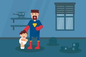 Supereroe papà vettoriale