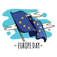Bandiera della giornata dell'Europa vettore
