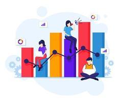 concetto di analisi dei dati vettore