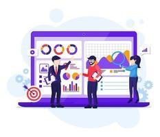 concetto di analisi aziendale vettore