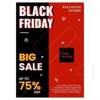 modello di banner di vendita venerdì nero vettore