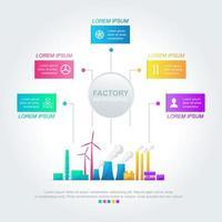 infografica di affari industriali con opzioni colorate