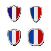 bandiera della Francia set