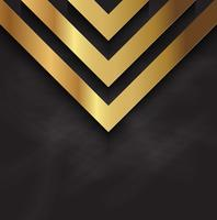 Disegno astratto dell'oro sulla trama di lavagna vettore
