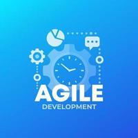 processo di sviluppo software agile, vector.eps vettore