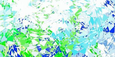 sfondo vettoriale azzurro, verde con forme poligonali.