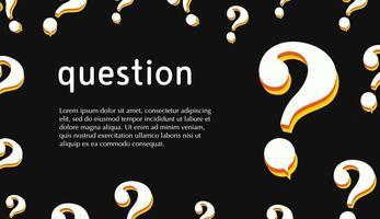 sfondo del punto interrogativo con lo spazio del testo vettore