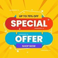promozione del modello di banner di vendita speciale vettore