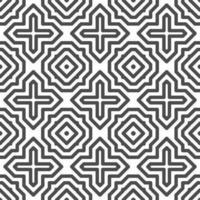 modello astratto senza cuciture di forme quadrate a croce esagonale. motivo geometrico astratto per vari scopi di progettazione. vettore
