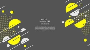 astratto sfondo circolare giallo scuro piatto