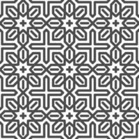 astratto senza cuciture esagonale arabo stella forme pattern. motivo geometrico astratto per vari scopi di progettazione. vettore